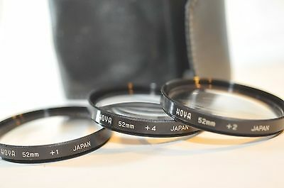 Hoya 52mm Close Up Filter set +1 +2 +4 for Nikon Canon Sigma Sony Pentax lens