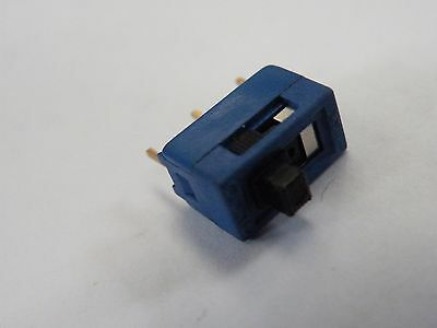 3 Possition Miniature SPDT Center Off Slide Switch Alco Gold Flashed CB01