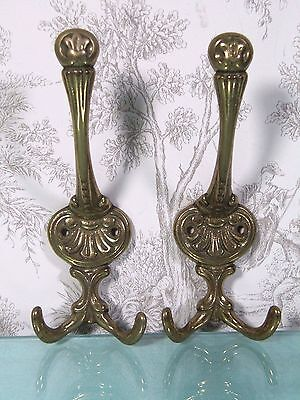 Brass Wall Hook:  Antique Architectural Victorian Ornate Hanger Hat Coat Rack