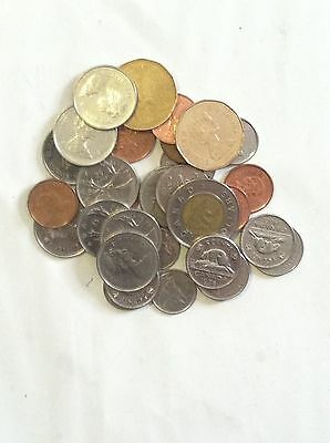 MIX LOT of CANADA COINS FACE VALUE $7.18