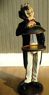 Gold Server Tray Waiter BUTLER STATUE for Buffet Table Restaurant Kitchen Decor
