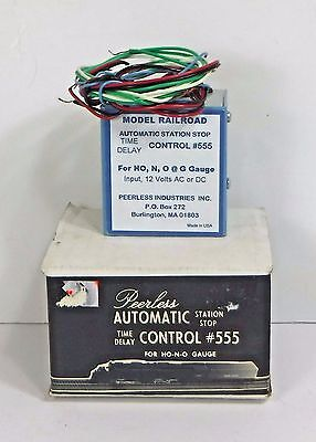 Peerless #555 Automatic Station Stop Time Delay Control:For HO, N & O Gauge, NOS
