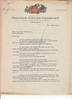 ORANGE-CRUSH COMPANY CHICAGO LETTERHEAD  NOVEMBER 19th, 1919