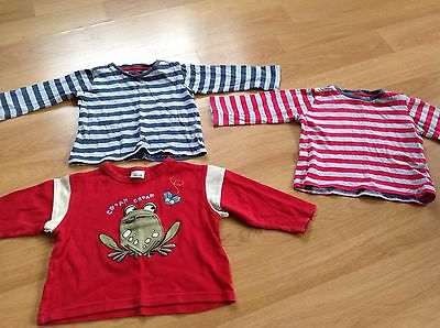 3 X Long Sleeved Tops. Age 12-18 Months