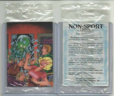 "1994 Mars Attacks SEALED ""Homage Promo Card"" CAPITAL CITY #1 of 1500 HTF!!!"