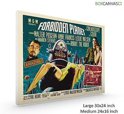 Movie Poster Canvas Wall Art Classic Sci Fi Forbidden Planet