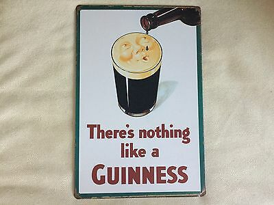 COOL BREWERIANA: There's Nothing Like a Guinness Metal Beer Sign NEW 8 x 11-3/4