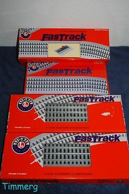 Lionel Lot FasTrack Accessories Lighted Bumpers, Uncoupling Track, Activator *
