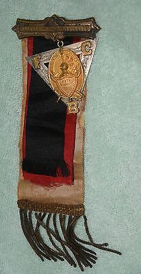 AH-043 - Knights of Pythias Macabees Ribbon Medal Vintage 1930s to 1950s Masonic