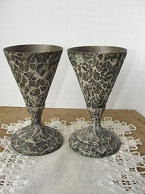 2 Rare 1910'S Soda Fountain Stainless Vortex Cone Cup Holders Mfg Co