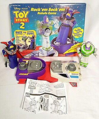 Toy Story 2 Rock' em Sock'em Robot Game Complete In The Box Working