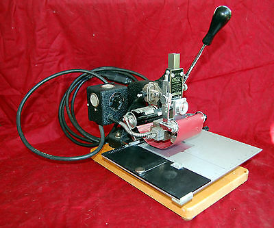 Kingsley M60 Hot Foil Embossing Machine plus foil cans and type-face