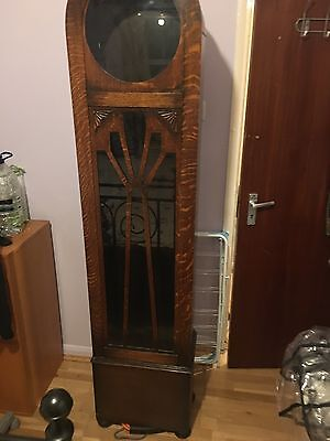 Old grandfather clock case