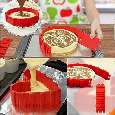 4 PCS Silicone Cake Mold Magic Bake Snake DIY Dessert ware Mould Red