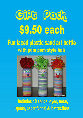 Sand art bottle individual gift pack - fun kids craft activity for all ages