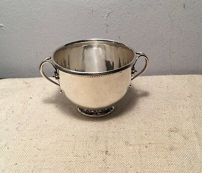 Georg Jensen Denmark Antique Sterling Silver 2 Handled Sugar Bowl Cup 32 B