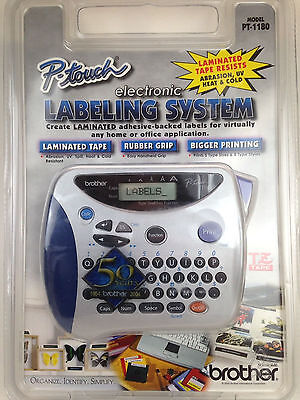 New Brother P-Touch Electronic Labeling System Handheld Label Maker PT-1180