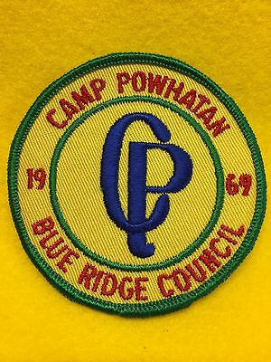 Boy Scouts-  1969 Camp Powhatan - Blue Ridge Council patch