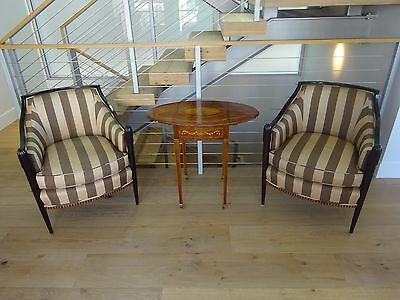 antique striped chair set
