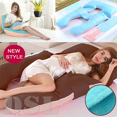 Luxury✔2.4kg Plush U Pillow Body Support Feeding Maternity Pregnancy Nursing UK✔