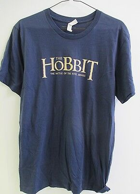 2014 The Hobbit Battle Of The Five Armies Promo T-Shirt Mens Medium Navy Blue