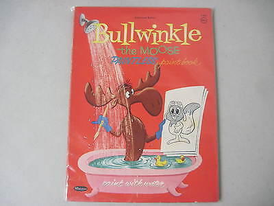 BULLWINKLE THE MOOSE PAINTLESS PAINT BOOK 1960 WHITMAN No. 1421 PAINT WITH WATER