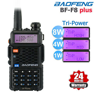 2017 BAOFENG BF-F8+ Dual Band 136-174/400-520Mhz VHF/UHF 2 Way Radio Transceiver