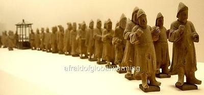 Old Photo. Shanghai, China. Processional Tomb Figurines
