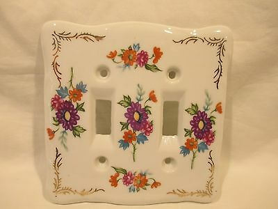 Thames Hand Painted Porcelain Dual Switch Plate Japan
