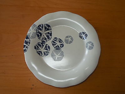 "Coldwater Creek BLUE SAND DOLLAR Set of 5 Salad Plates 8"" Sculpted"