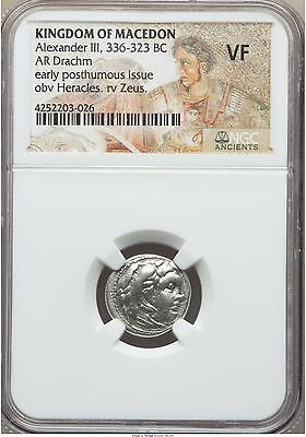 Alexander III the Great 336-323 BC AR Drachm NGC VF (03026)