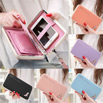 New Women Lady Leather Wallet Purse Long Handbag Clutch Bag Phone Card Holder