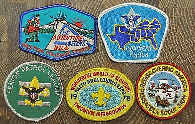 Cub and Boy Scout Patches Group of 5 Camp Euchee Lot 4