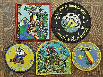 Cub and Boy Scout Patches Group of 5 Gulf Coast Lot 8