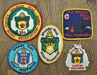 Cub and Boy Scout Patches Group of 5 Spanish Trail Lot 9