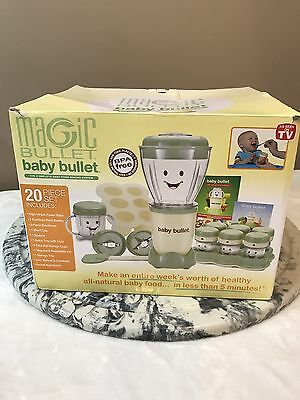NEW Magic Bullet Baby Bullet 20pc Complete Baby Food Making System BPA Free