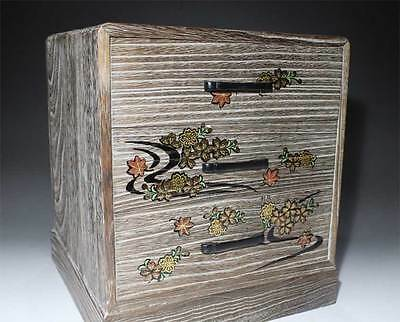 Japanese Antique  Tung's small chest of drawers wooden Handcraft