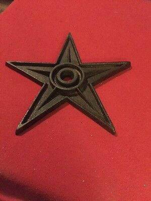 Antique/Vintage Cast Iron Building Metal Star~ Architecture Salvage Wall Anchor
