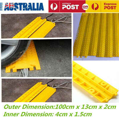100CM PVC Rubber Duct Wire Cable Cord Cover Floor Cover Protector AU Stock