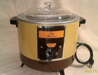 Lady Brentwood Vintage NEW Open Box WDF1974 Cooker Fryer 115 Volts 1150Watts