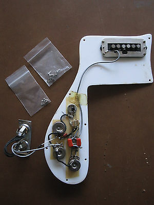 complete 1973 Rickenbacker 4001 pickguard assembly wiring harness pickups 1974