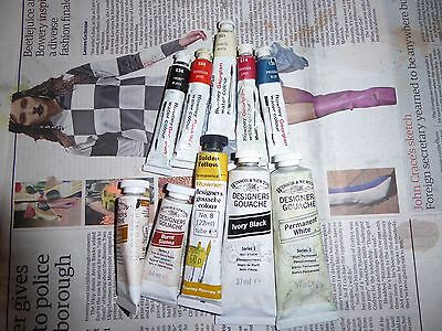 Watercolour & Gouache Paints/ Palettes And Squirrel Mop Wash Brushes New & Used