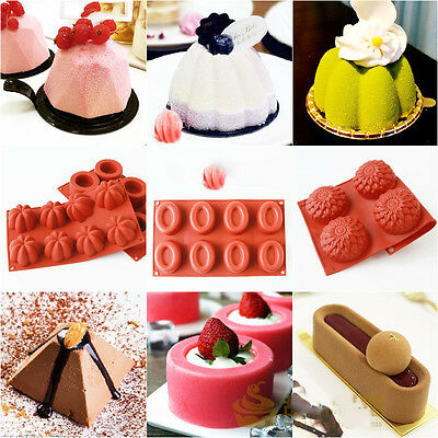 Silicone Muffin Cookie Brownie Cornbread Cheesecake Pudding Soap Mold