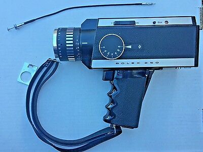 Vintage Bolex 250 Super 8mm Camera with manual and case super8