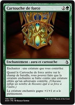 MTG Magic AKH - (x4) Cartouche of Strength/Cartouche de force, French/VF