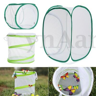 Praying Mantis Stick Insect Butterfly Cylindrical Pop-up Cage Housing Enclosure