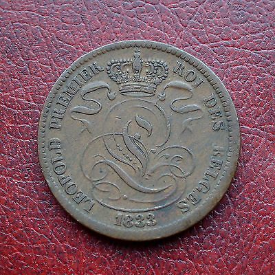 Belgium 1833 copper 10 centimes