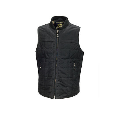 Roland Sands Design RSD Ringo Black Motorcycle Wax Waxed Cotton Vest All Sizes