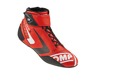 OMP Racing Red Size 13 One-S 2016 Mid-Top Driving Shoe P/N IC80706148