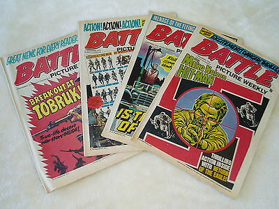 4 x BATTLE COMICS..........all 1975.......good condition